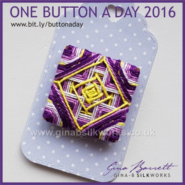 Day 332: Cat's Cradle #onebuttonaday by Gina Barrett