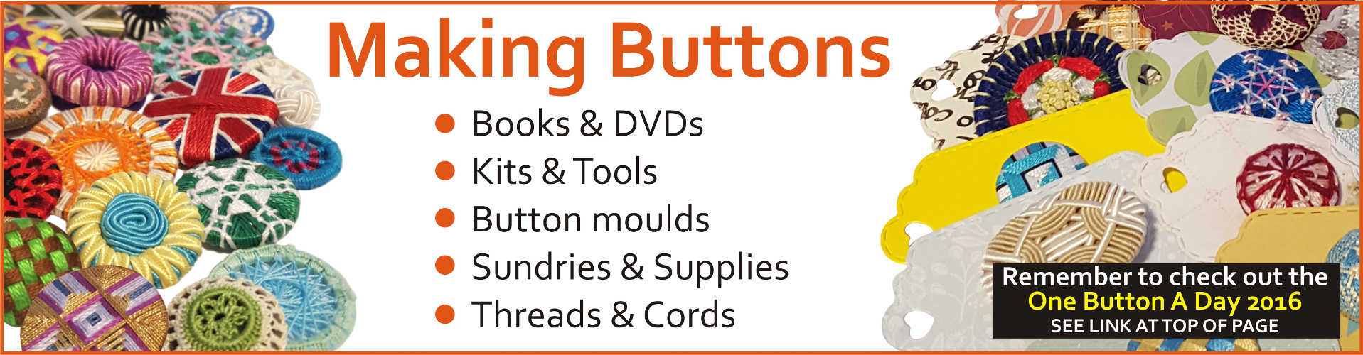 Button making supplies from Gina-B Silkworks