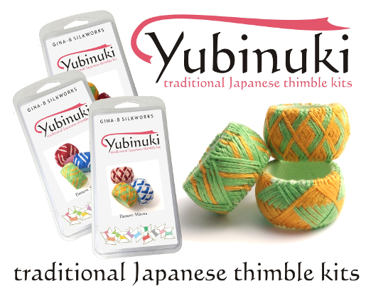 New Yubinuki Japanese Thimble Kits from Gina-B Silkworks