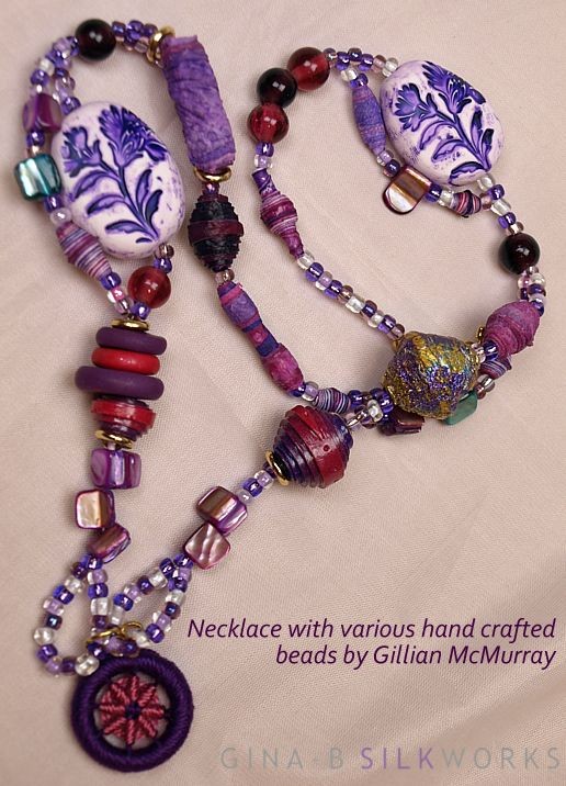 Necklace by Gillian McMurray for Gina-B Silkworks