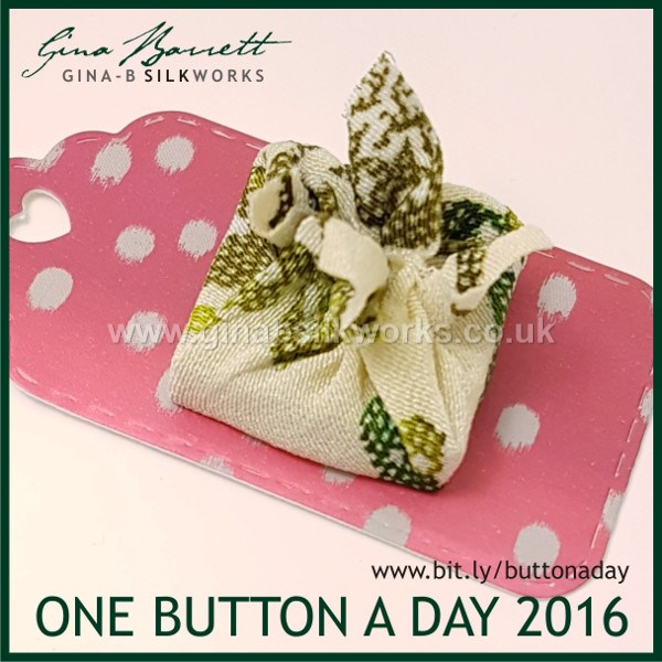 Day 361: Furoshiki #onebuttonaday by Gina Barrett