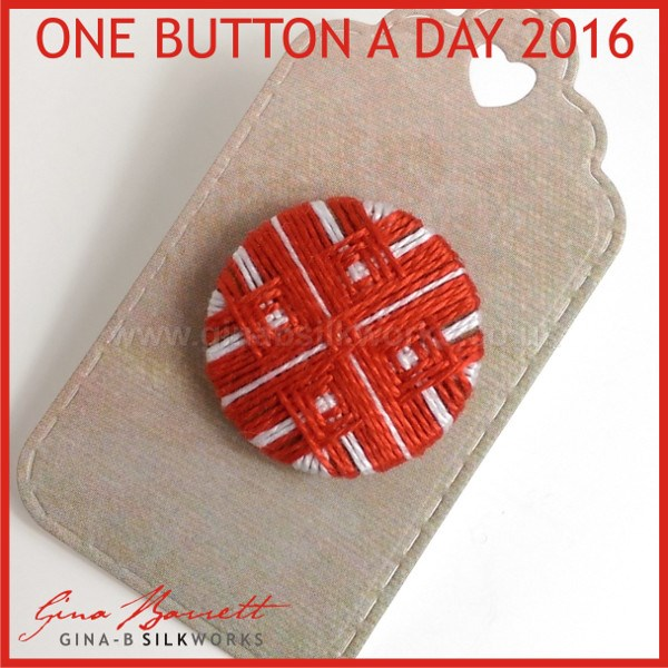 Day 7: Red Quadrate #onebuttonaday by Gina Barrett