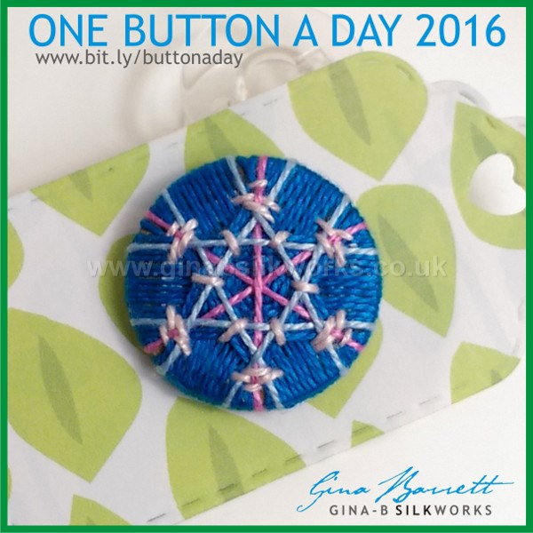Day 8: A Snowflake? #onebuttonaday by Gina Barrett
