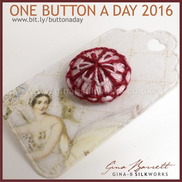 Day 10: Victorian Flower #onebuttonaday by Gina Barrett