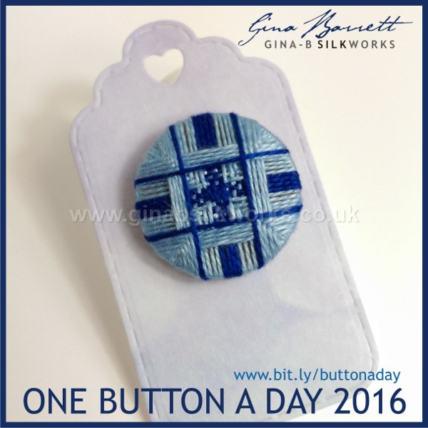 Day 25: Little Plaid #onebuttonaday by Gina Barrett