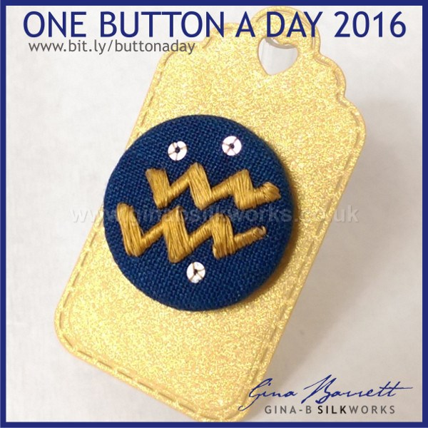 Day 28: Aquarius #onebuttonaday by Gina Barrett