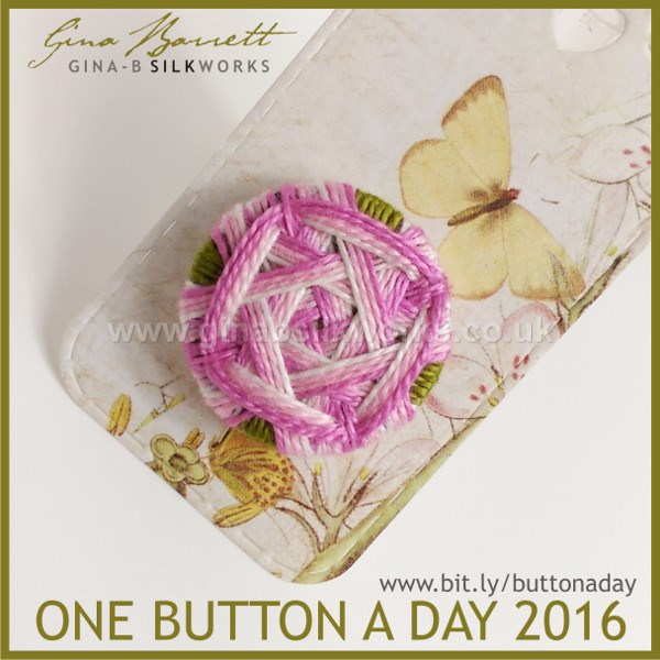 Day 32: Japanese Rose #onebuttonaday by Gina Barrett