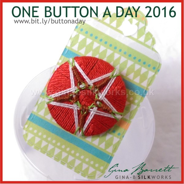 Day 35: The Apple Core Star #onebuttonaday by Gina Barrett