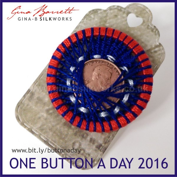 Day 46: Abe #onebuttonaday by Gina Barrett