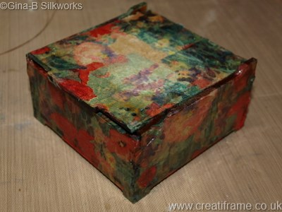 CreatiFrame Pincushion Box Tutorial at Gina-B Silkworks