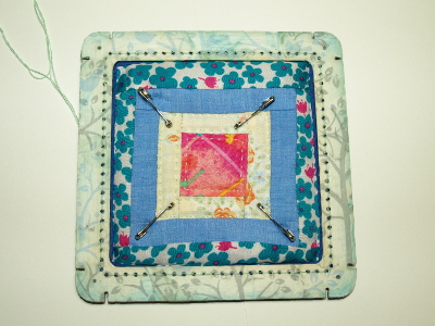 CreatiFrame Mini Quilt Block project at Gina-B Silkworks