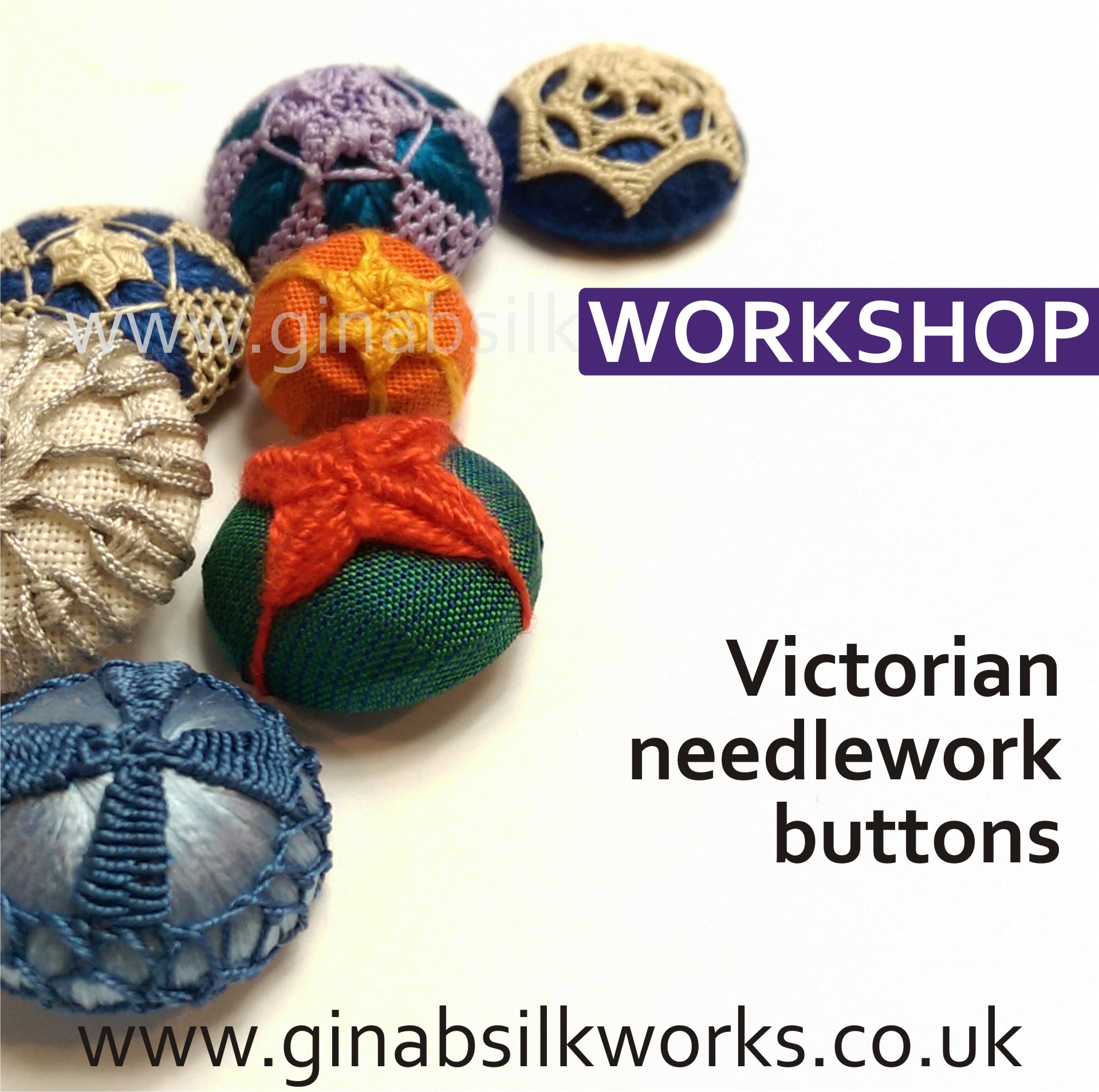 Victorian Needlework Buttons Workshop
