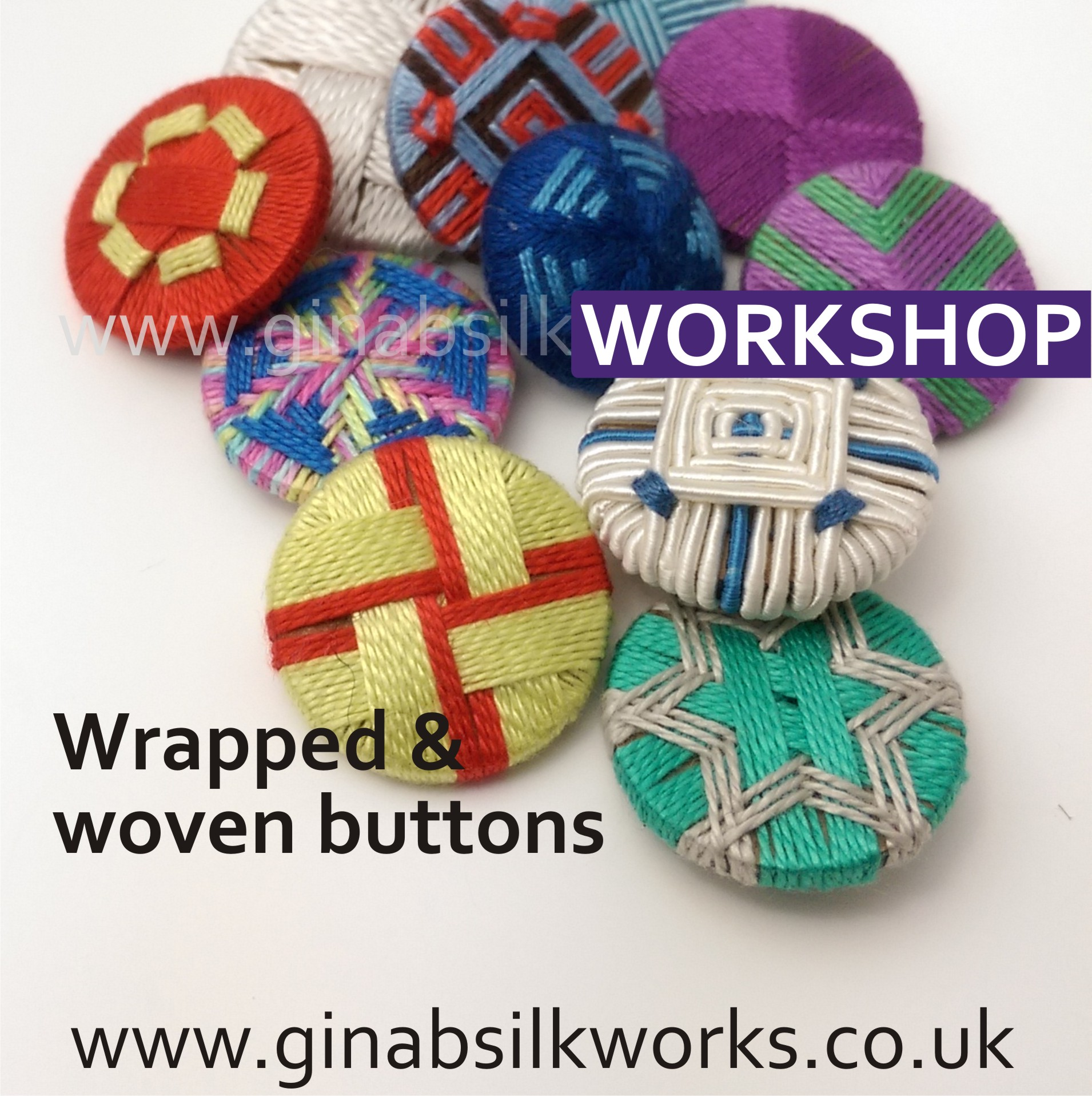 Wrapped & Woven Buttons Workshop